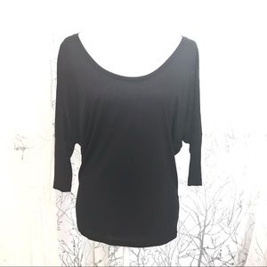 2 black scoop neck shirts
